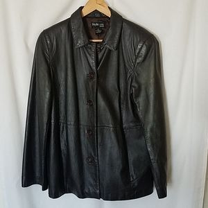 Style & Co. - Women's Brown Leather Jacket